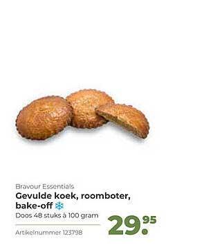 Bidfood Bravour Essentials Gevulde Koek, Roomboter, Bake-Off