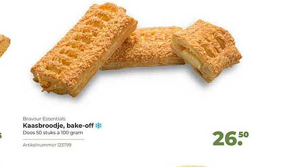 Bidfood Bravour Essentials Kaasbroodje, Bake-Off