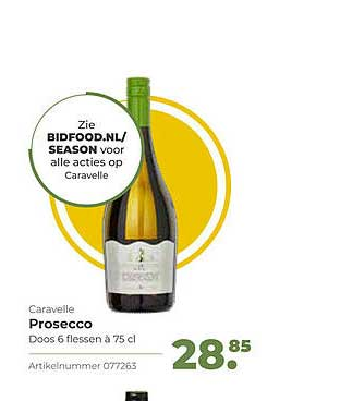 Bidfood Caravelle Prosecco