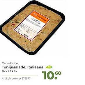 Bidfood De Indische Tonijnsalade, Italiaans