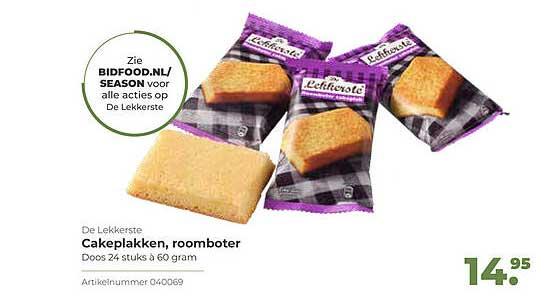 Bidfood De Lekkerste Cakeplakken, Roomboter