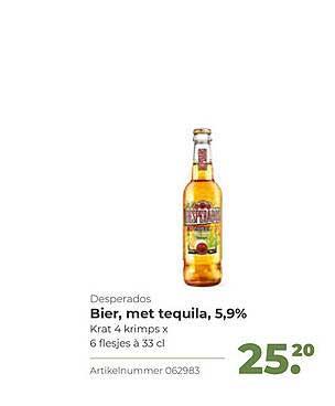 Bidfood Desperados Bier, Met Tequila, 5,9%