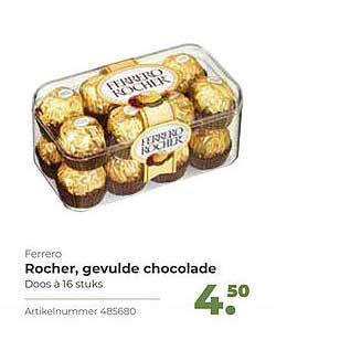 Bidfood Ferrero Rocher, Gevulde Chocolade
