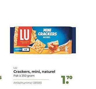 Bidfood Lu Crackers, Mini, Naturel