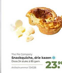 Bidfood The Pie Company Snackquiche, Drie Kazen