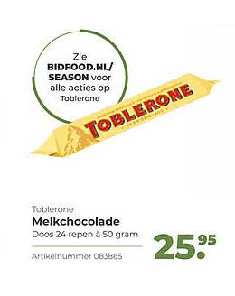 Bidfood Toblerone Melkchocolade