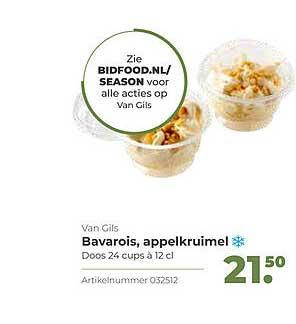 Bidfood Van Gils Bavarois, Appelkruimel