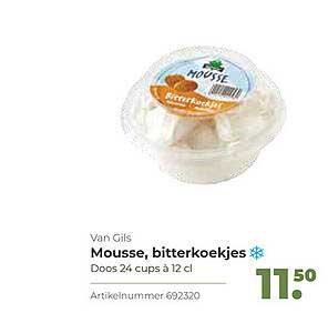 Bidfood Van Gils Mousse, Bitterkoekjes