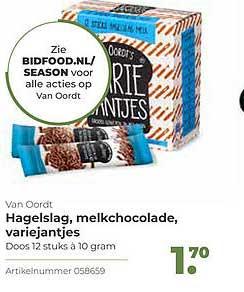 Bidfood Van Oordt Hagelslag, Melkchocolade, Variejantjes