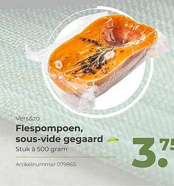 Bidfood Vers&Zo Flespompoen, Sous-Vide Gegaard