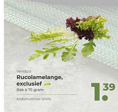 Bidfood Vers&Zo Rucolamelange, Exclusief