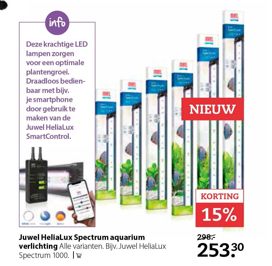 Pets Place Juwel Helialux Spectrum Aquarium Verlichting: 15% Korting
