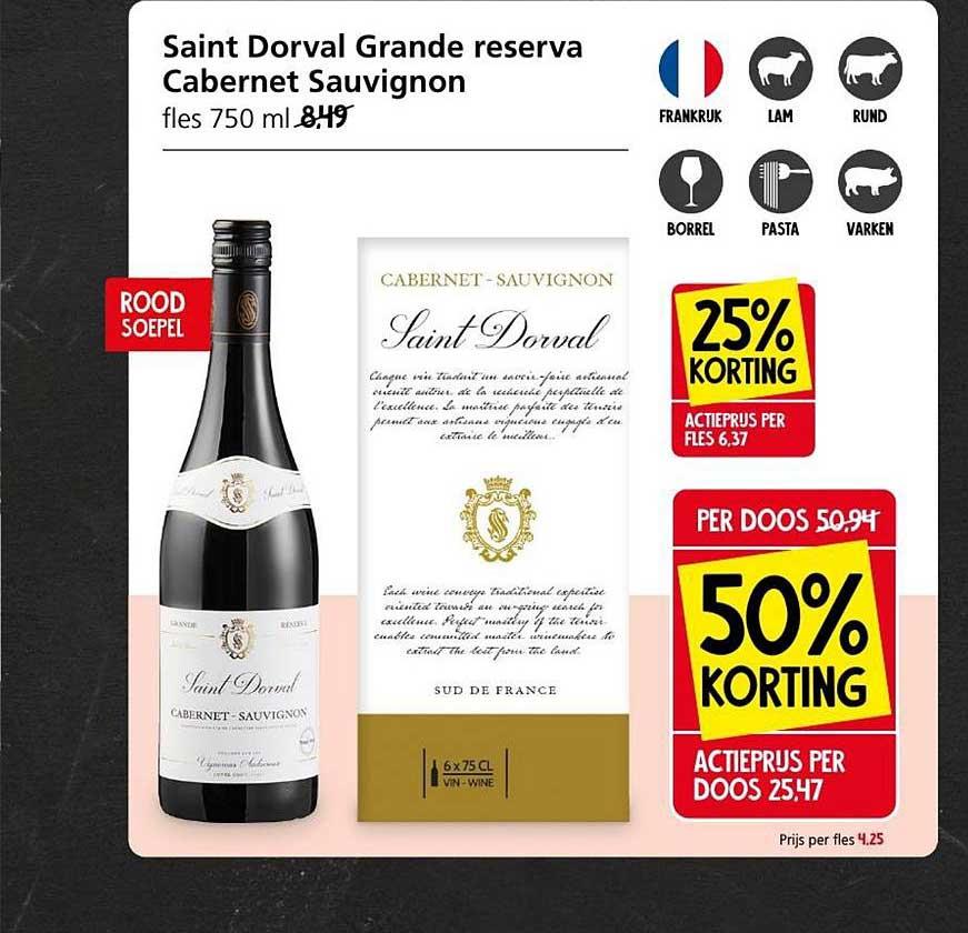 Jan Linders Saint Dorval Grande Reserva Cabernet Sauvignon 25% - 50% Korting