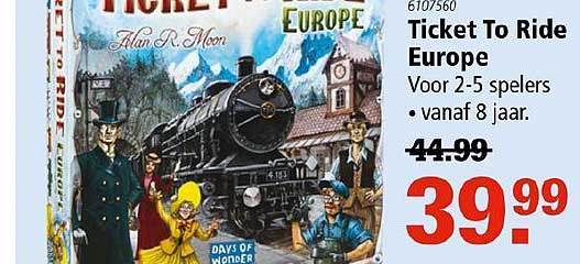 Toys2Play Ticket To Ride Europe