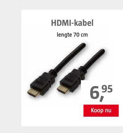 BAUHAUS HDMI-Kabel 70 Cm