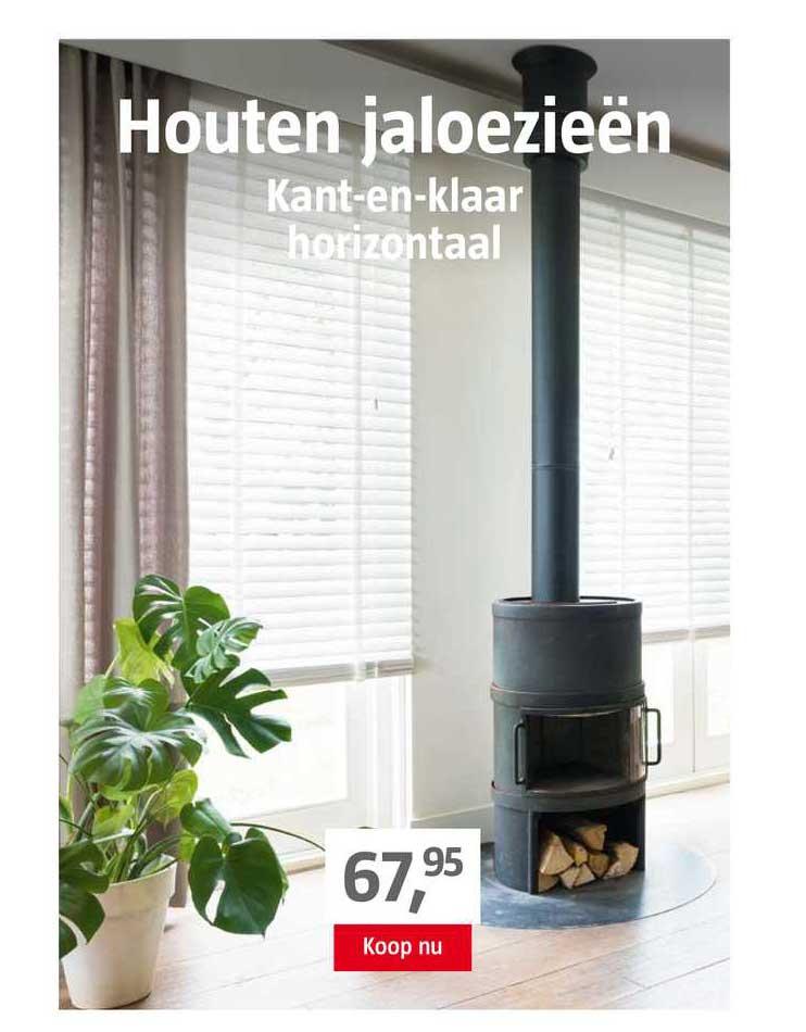 BAUHAUS Houten Jaloezieën Kant-En-Klaar Horizontaal