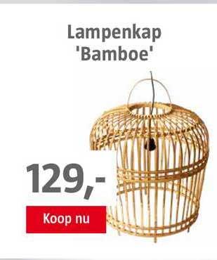 BAUHAUS Lampenkap 'Bamboe'