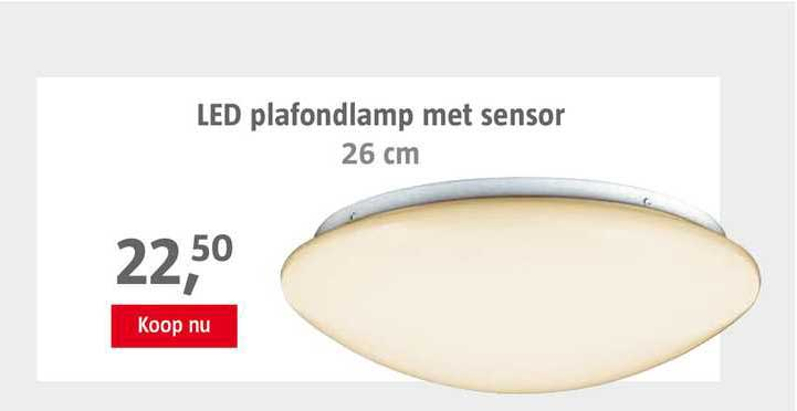 BAUHAUS LED Plafondlamp Met Sensor 26 Cm