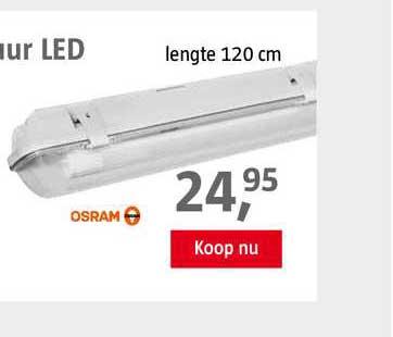 BAUHAUS Osram TL-Armatuur LED 120 Cm