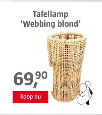 BAUHAUS Tafellamp 'Webbing Blond'