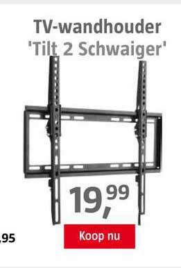 BAUHAUS TV-Wandhouder 'Tilt 2 Schwaiger'