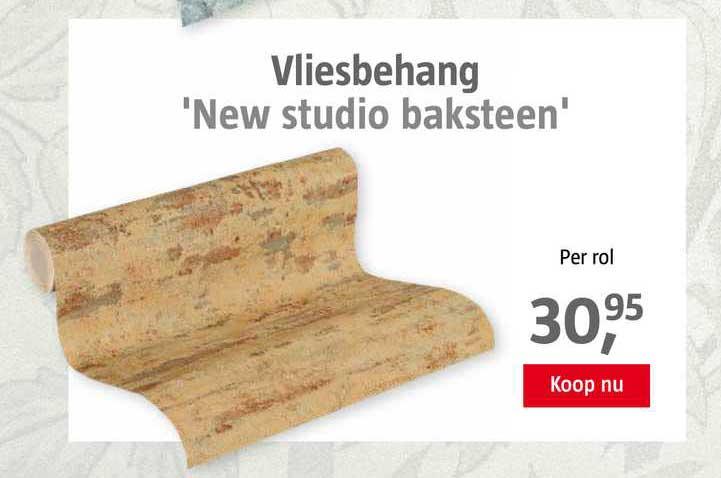 BAUHAUS Vliesbehang 'New Studio Baksteen'