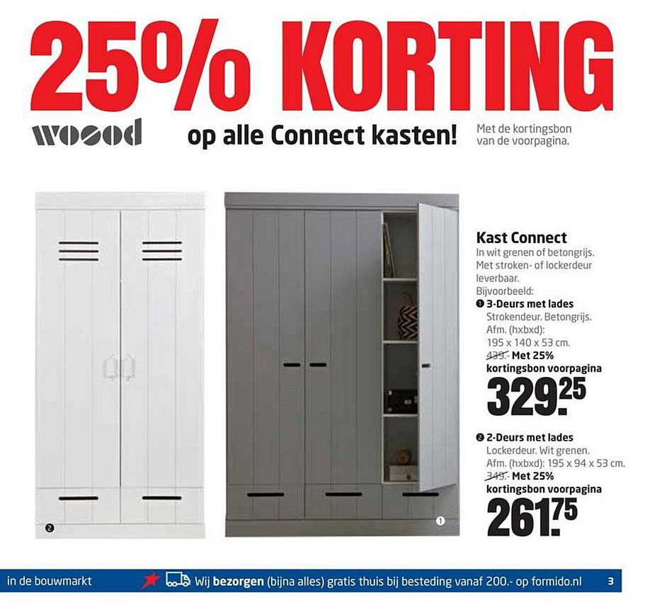 Formido 25% Korting Op Alle Woood Connect Kasten