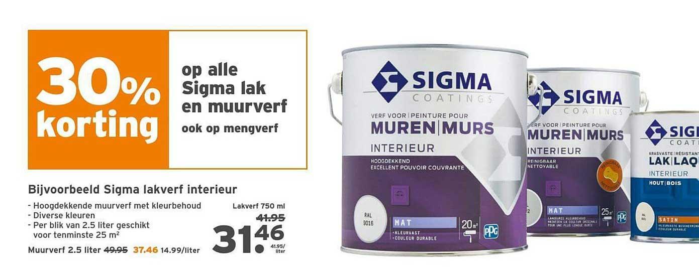 Gamma 30% Korting Op Alle Sigma Lak En Muurverf