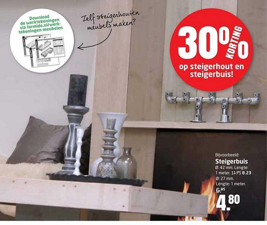 Formido 30% Korting Op Steigerhout En Steigerbuis