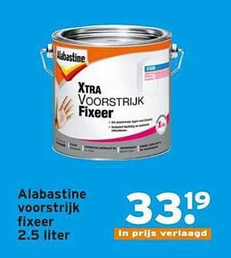 Alabastine Voorstrijk Fixeer 2 5 Liter Aanbieding Bij Gamma