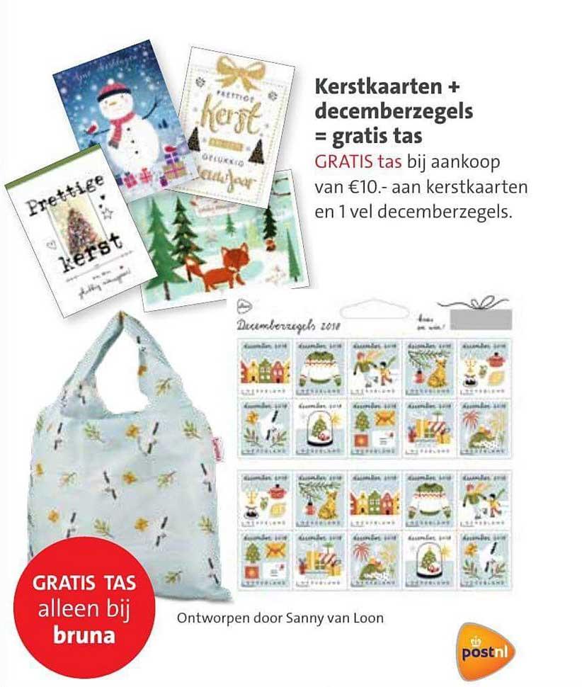 Bruna Kerstkaarten + Decemberzegels = Gratis Tas