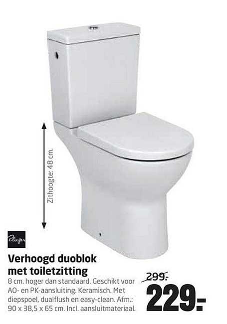 Formido Verhoogd Duoblok Met Toiletzitting