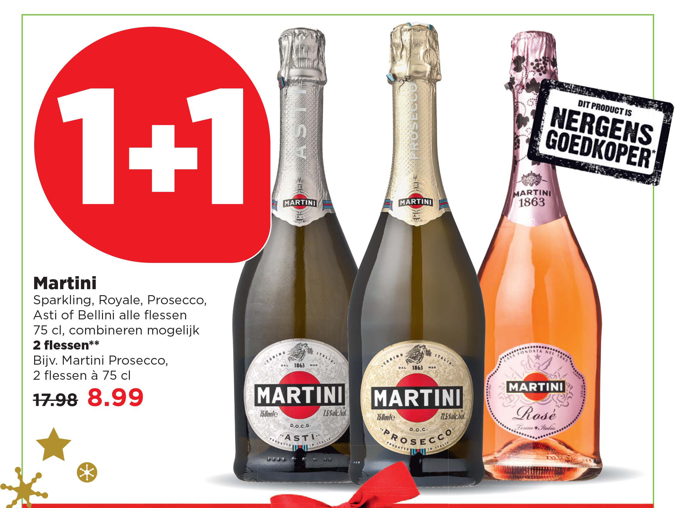 PLUS Martini: 1+1 Gratis