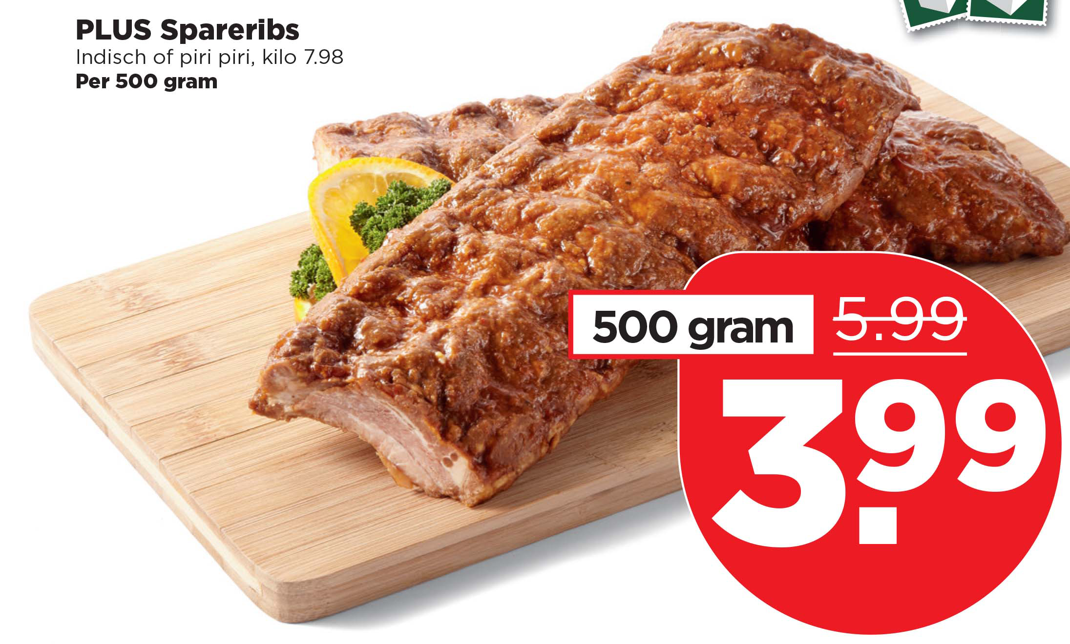 PLUS PLUS Spareribs: €3,99