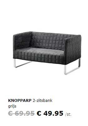 IKEA Knopparp 2 Zitsbank