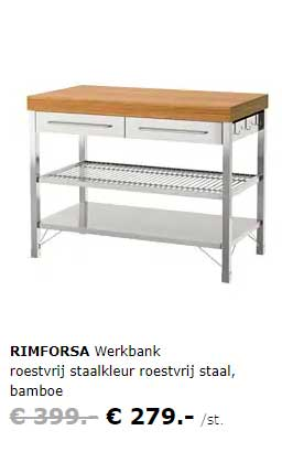 IKEA Rimforsa Werkbank