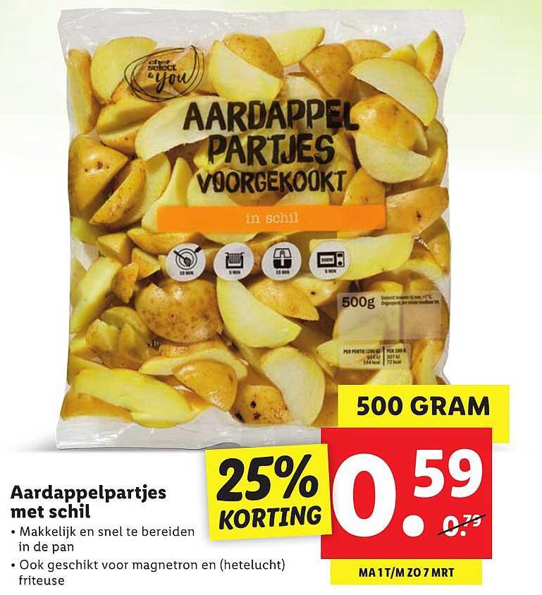 Lidl Aardappelpartjes Met Schil 25% Korting