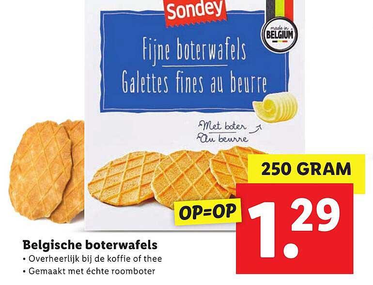 Lidl Belgische Boterwafels