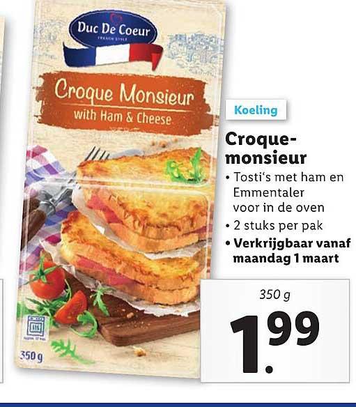 Lidl Croque Monsieur
