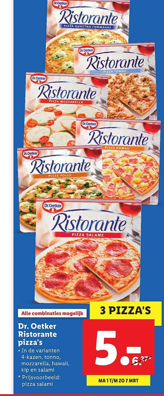 Lidl Dr. Oetker Ristorante Pizza's