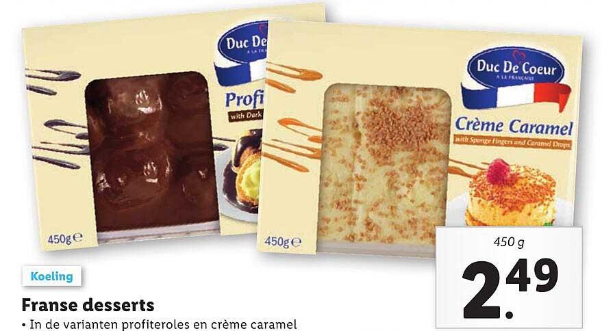 Lidl Franse Desserts