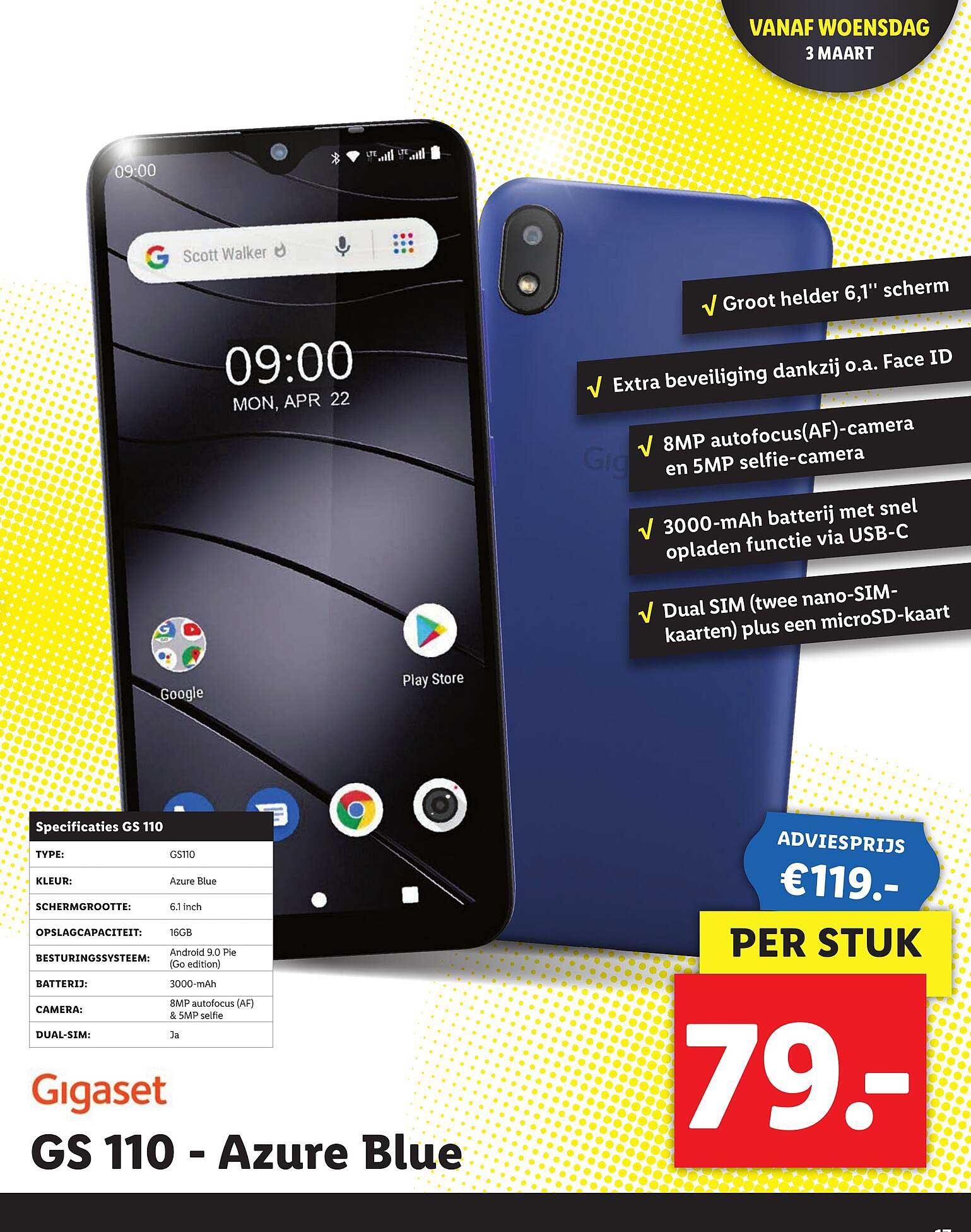 Lidl Gigaset GS 110 - Azure Blue