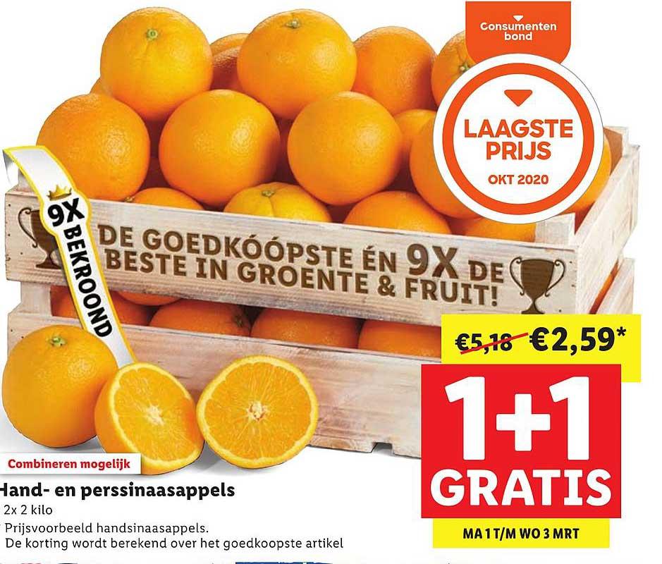 Lidl Hand- En Perssinaasappels 1+1 Gratis