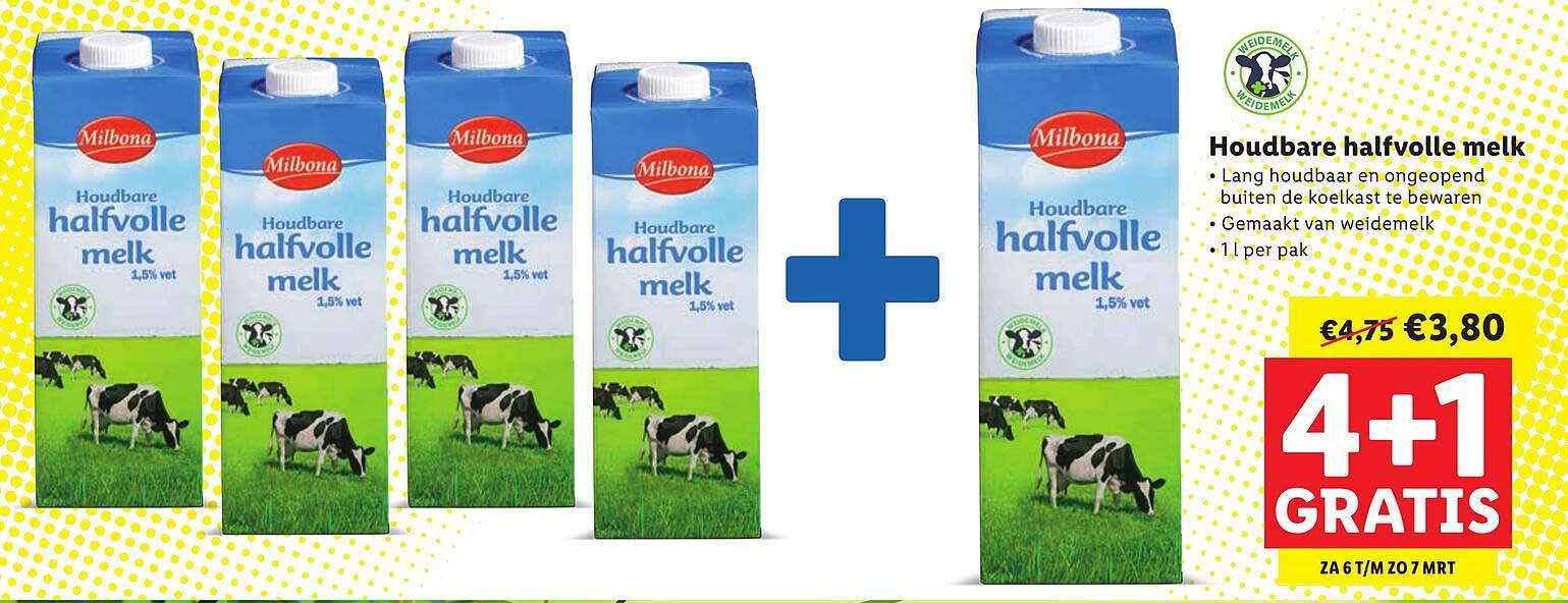 Lidl Houdbare Halfvolle Melk