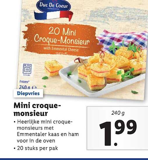 Lidl Mini Croque-Monsieur