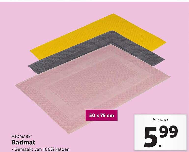 Lidl Miomare Badmat 50x75 Cm