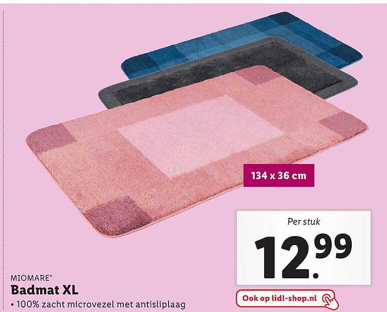 Lidl Miomare Badmat XL 134x36 Cm