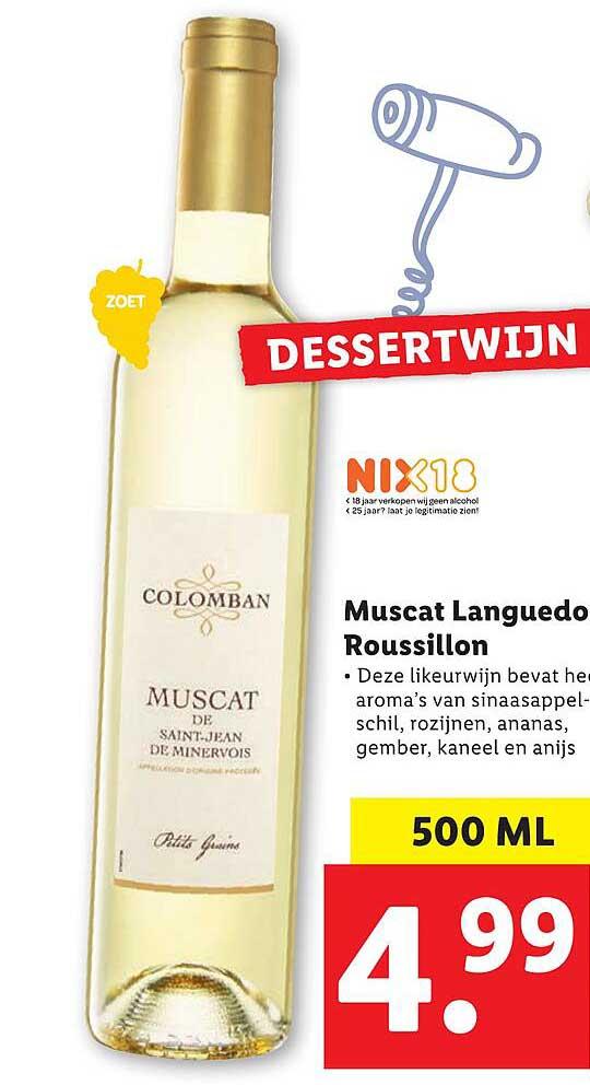 Lidl Muscat Languedo Roussillon