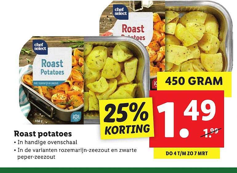 Lidl Roast Potatoes 25% Korting