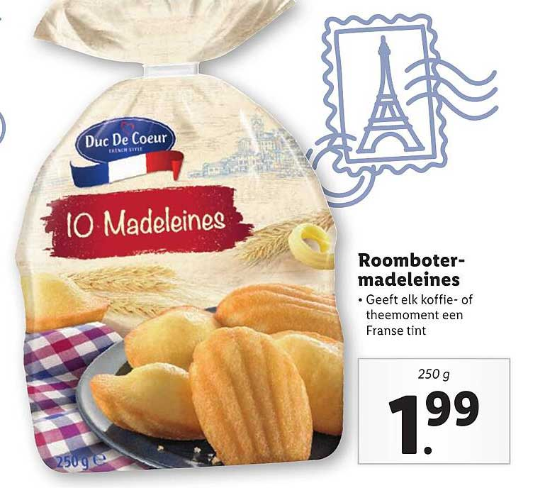 Lidl Roomboter Madeleines
